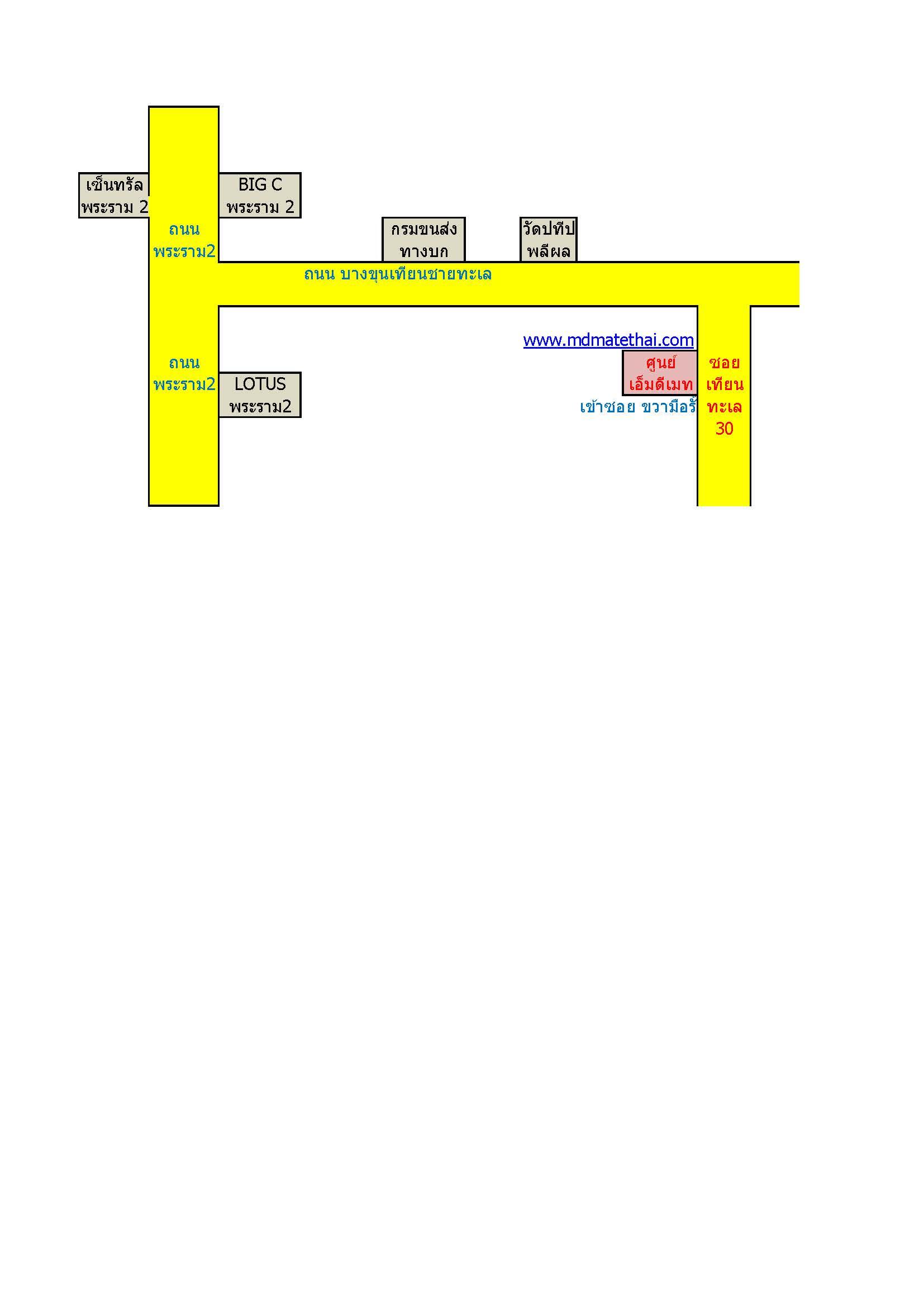 แผนที่  ศูนย์เอ็มดีเมท